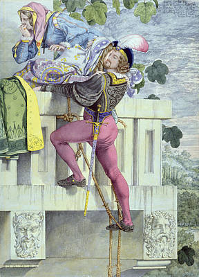 Romeo And Juliet Painting - Sketch For The Passions Love by Richard Dadd