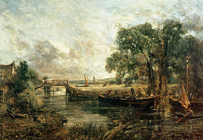 Lock Painting - Sketch For View On The Stour by John Constable