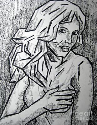 Oil Pastel On Paper Painting - Sketch - Nude 2 2011 Series by Kamil Swiatek