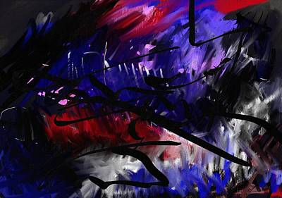 Abstract Painting - Sketch1 by Wolfgang Schweizer