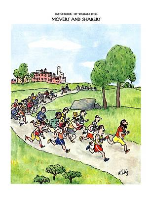 Sketchbook Movers And Shakers Art Print by William Steig