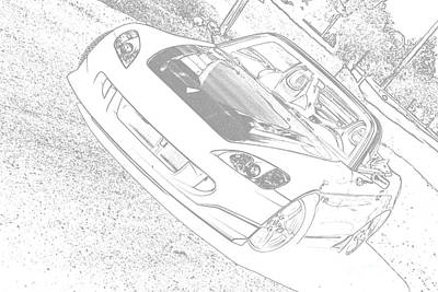 Sketched S2000 Art Print