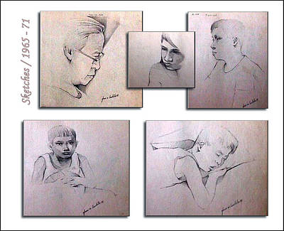 Drawing - Sketches 1965 To 71 by Glenn Bautista