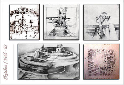 Drawing - Sketches 1965 To 82 by Glenn Bautista