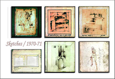 Drawing - Sketches 1970 To 71 by Glenn Bautista