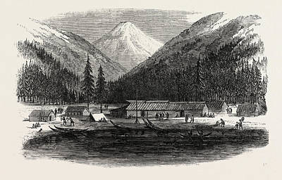 Sketches From British Columbia Indian Village Art Print by Canadian School