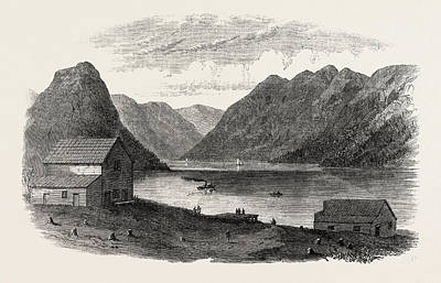 British Columbia Drawing - Sketches From British Columbia Port Anderson by English School