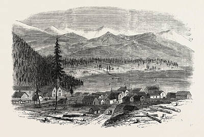 Sketches From British Columbia The Town Of Douglas Art Print by English School