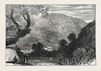 Palestine Drawing - Sketches From Palestine Mount Ebal And Shechem Nablous by English School