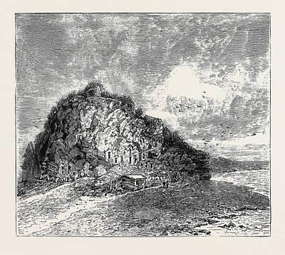 Lipari Drawing - Sketches In The Lipari Islands Faragleone by English School