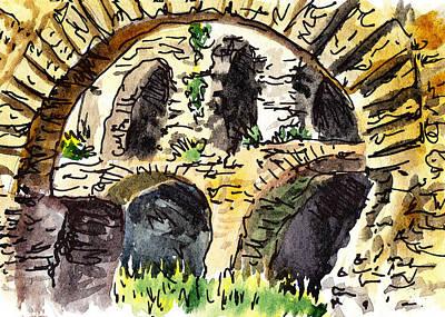 Children Book Painting - Sketching Italy Roman Ruins Of Forum by Irina Sztukowski