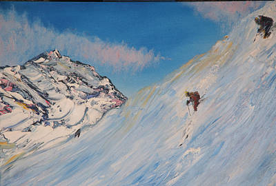 Painting - Ski Alaska by Gregory Allen Page