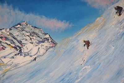 Ski Alaska Heli Ski Art Print by Gregory Allen Page
