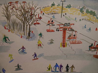 Painting - Ski Area by Rodger Ellingson