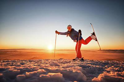 Ski Photograph - Ski Exercise by Extreme-photographer