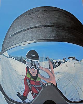 Ski Helmet Reflection Original by Patricia Pasbrig