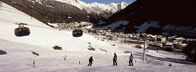 Anton Photograph - Ski Lift In A Ski Resort, Sankt Anton by Panoramic Images