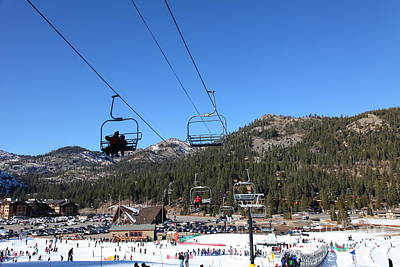 Landscapes Photograph - Ski Lifts At Squaw Valley Usa 5d27639 by Wingsdomain Art and Photography
