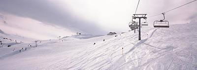 Cold Temperature Photograph - Ski Lifts In A Ski Resort, Kitzbuhel by Panoramic Images