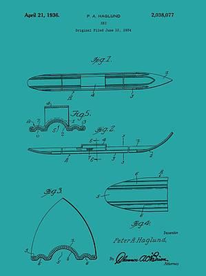 Ski Patent Art Print
