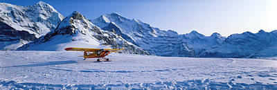 Ski Plane Mannlichen Switzerland Art Print by Panoramic Images