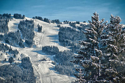 Ski Run Art Print by Chris Boulton