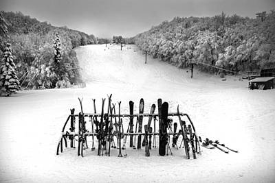 Photograph - Ski Vermont At Middlebury Snow Bowl by Charles Harden