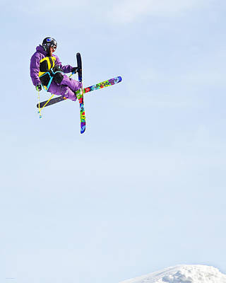 Action Sports Art Photograph - Ski X by Theresa Tahara