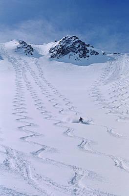 Skier Enjoying The Backcountry Art Print by Howie Garber