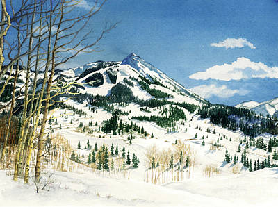 Painting - Skiers Paradise by Barbara Jewell