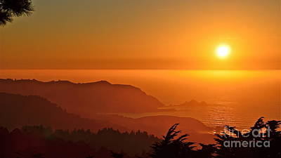 Skies Of Gold At Pedro Point Art Print