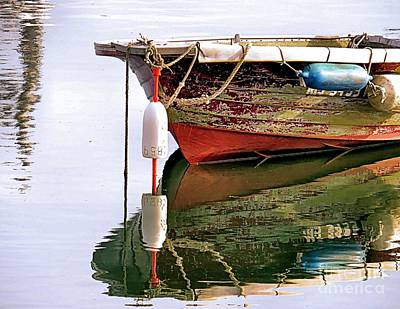 Skiff Reflections Art Print