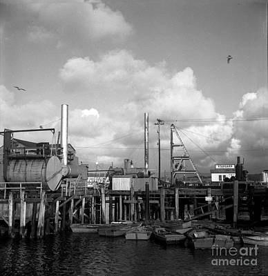 Photograph - Skiffs At  Montereys Fisherman's Wharf California Circa 1945 by California Views Mr Pat Hathaway Archives