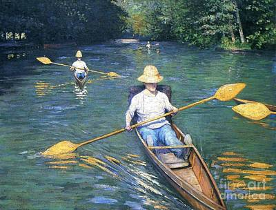 Skiff Painting - Skiffs On The Yerres by Pg Reproductions