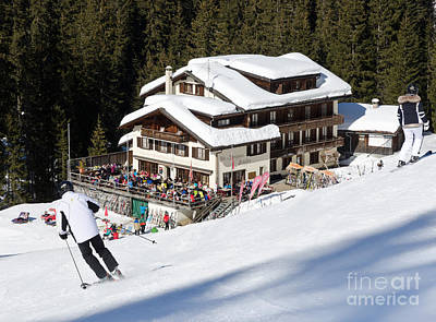 Skihaus Schifer Skier Davos Parsenn Klosters Art Print
