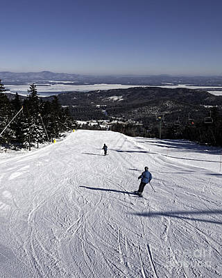 Photograph - Skiing At Gunstock Mtn by Sharon Seaward
