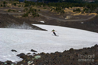Skiing Bachelor In August Art Print by Jackie Follett