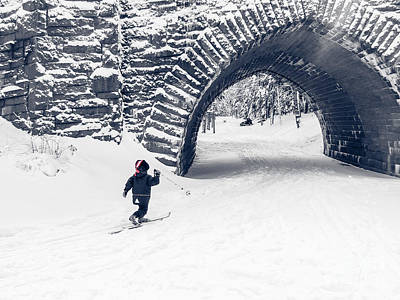 Crosses Photograph - Skiing In Acadia National Park by Edward Fielding