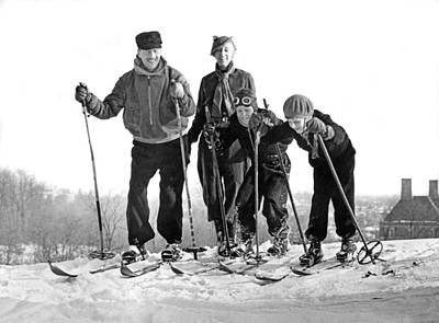 Skiing In Washington D.c. Art Print