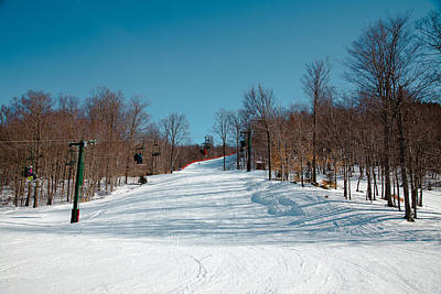Photograph - Skiing Mccauley Mountain by David Patterson
