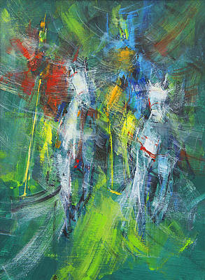 Thrilled Painting - Skill And Thrill by Zahid Saleem