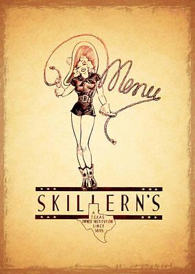Skillerns Texas 1940 Art Print by Mark Rogan