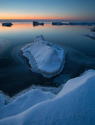 Pop Art Rights Managed Images - Skim Ice On The Horizon Royalty-Free Image by Jeffrey Ewig