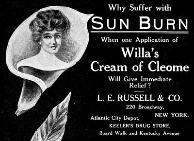 Cleome Drawing - Skin Cream Ad, 1905 by Granger