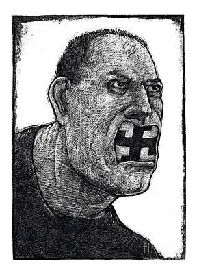 Racism Drawing - Skinhead-2 by Chris Van Es