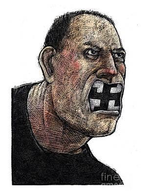 Racism Drawing - Skinhead by Chris Van Es