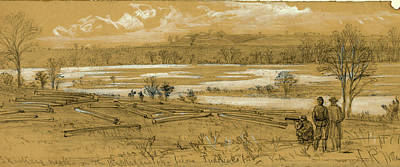 Chinese American Drawing - Skinkers Neck On The Rappanhannock Below Fredericksburg by Quint Lox