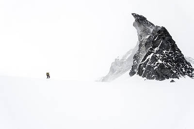 Ski Photograph - Skinning To Friendship Col by Ian Stotesbury