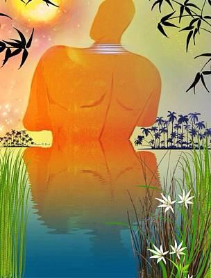 Skinnydippin' Art Print by Romaine Head