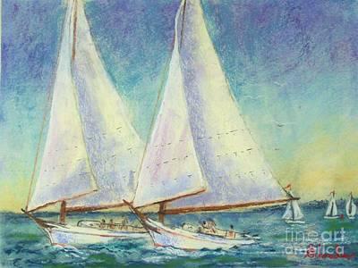 Skip Jack Races Art Print by Bruce Schrader